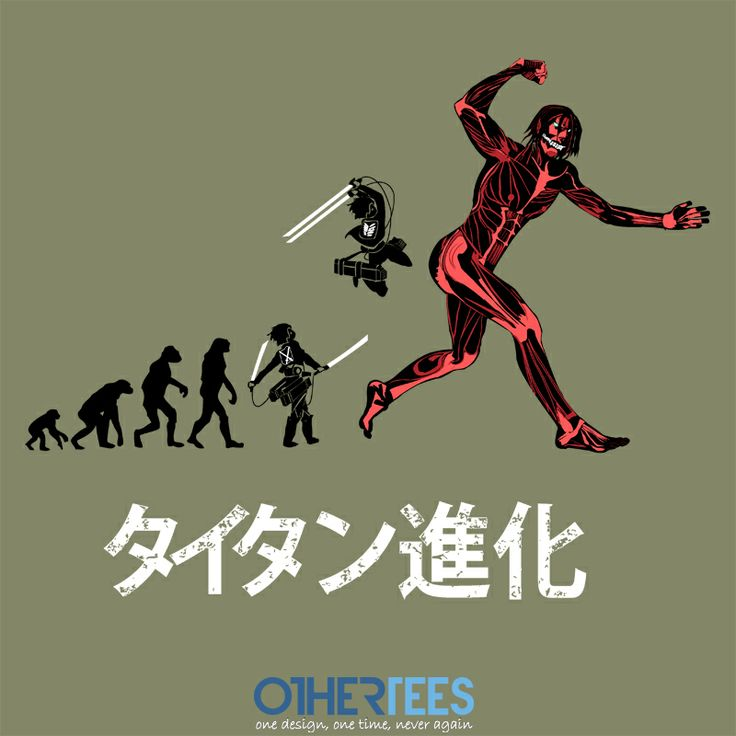 """Titan Evolution"" by Samiel Shirt on sale until 23rd Feb on www.othertees.com #anime #attackontitan #shingekinokyojin"