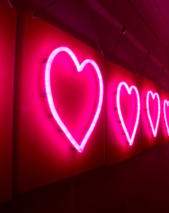 LED Neon Pink Heart with Dimmer by MartelloDeLights on Etsy, £90.00