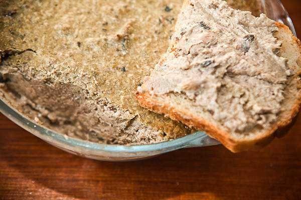 Сытный паштет из печени с грибами как приготовить с фото