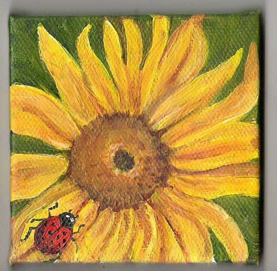 Step By Step Sunflower Acrylic Painting