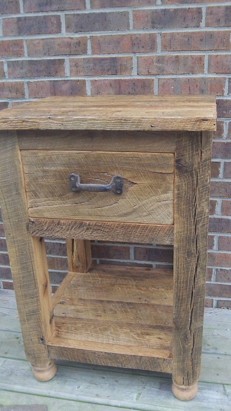 best 25 rustic end tables ideas on pinterest wood end. Black Bedroom Furniture Sets. Home Design Ideas