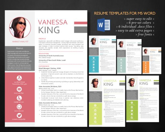 Professional 3 in 1 Word resume Cv template and Resume cv - mis resume