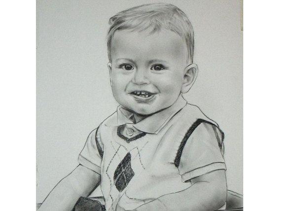 personalized baby gift children birthday present baby boy gift girl portrait drawing