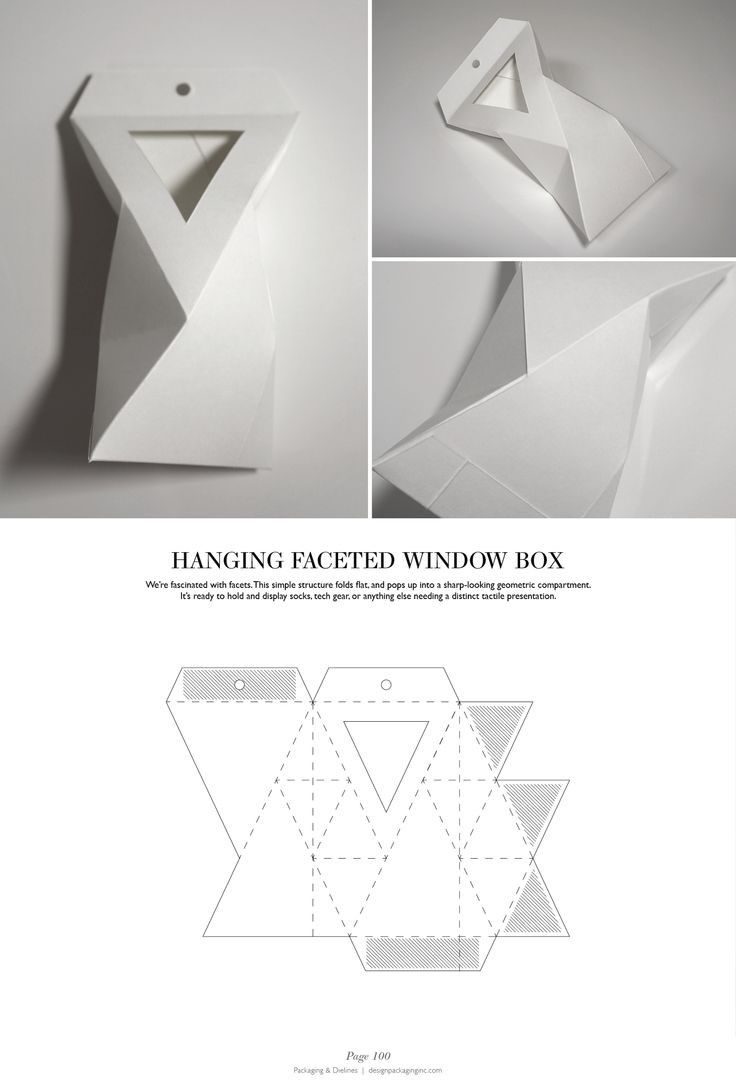 Hanging Faceted Window Box - http://issuu.com/designpackaging/docs/packaging-dielines-free-book-design/1