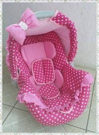 Resultado de imagem para como fazer capa para bebe conforto passo a passo