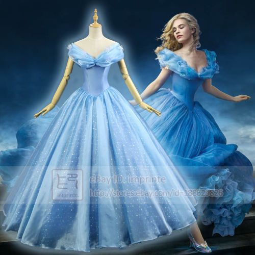 Cinderella-2015-Movie-Adult-Costumes-Luxurious-Cosplay-Costume-Butterflies-Dress $120.00 or $20 for 6 months $15.00 shipping