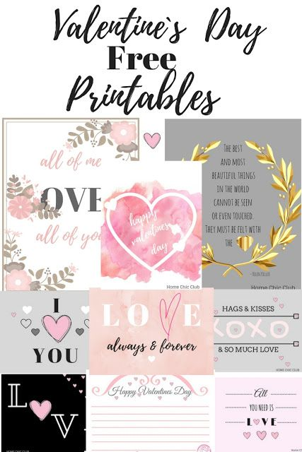 Valentine's Day Printables | Home Chic Club: Valentine's Day Printables