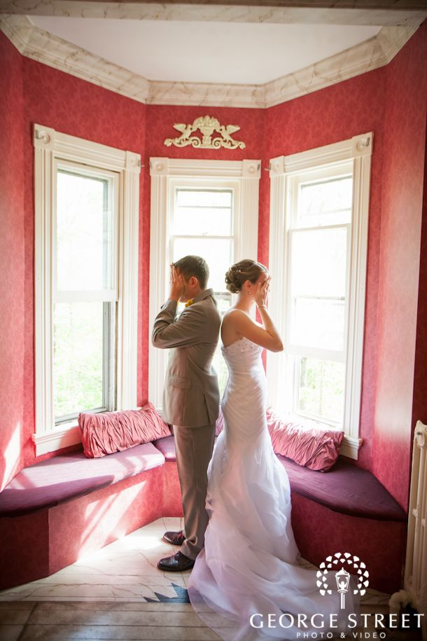 """Our no-peeking """"first look"""" up on the photography company's blog!"""
