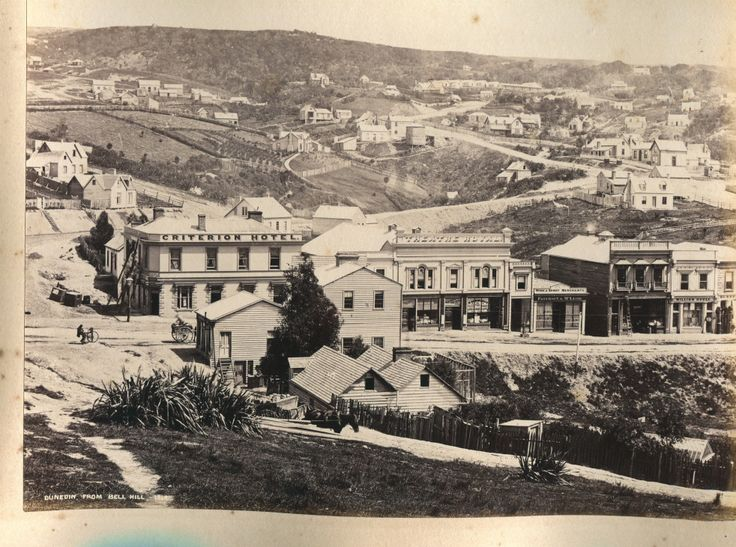 Dunedin from Bell Hill 1864