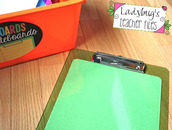Ladybug's Teacher Files: 2-in-1 Clipboard and Whiteboard!
