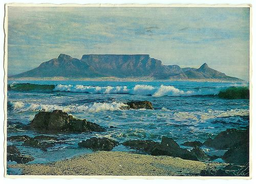 Bloubergstrand view, 1970 by mallix, via Flickr