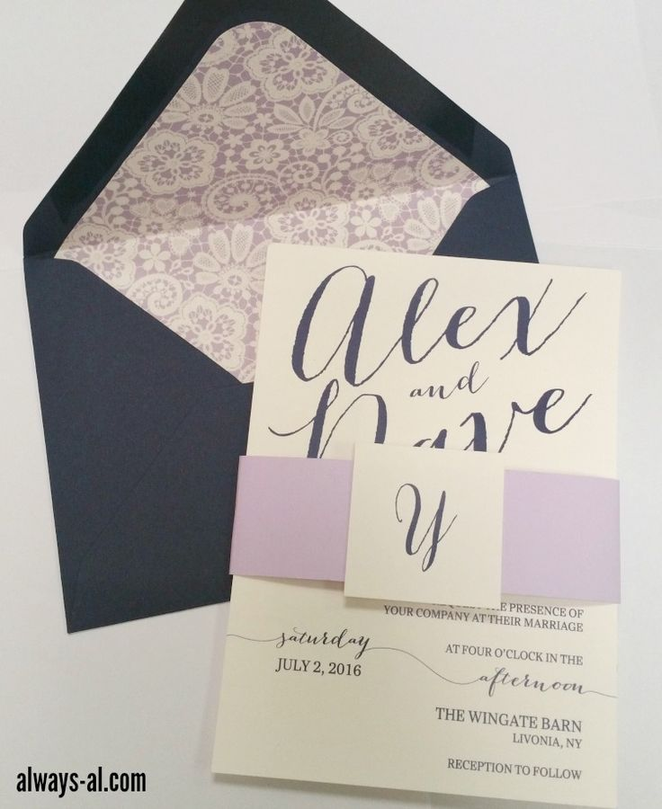 24 best Purple Wedding Invitations images on Pinterest | Purple ...