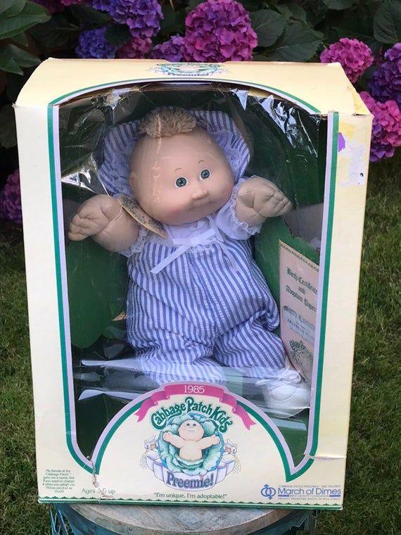 Cabbage Patch Kids Preemie Doll 1985 Original Box Never Used Toy Cabbage Patch Kids Patch Kids Cabbage Patch Dolls