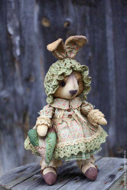 Зайка. - салатовый,зайка,зайчик,зайка девочка,винтажный стиль,винтаж,ароматизированная игрушка