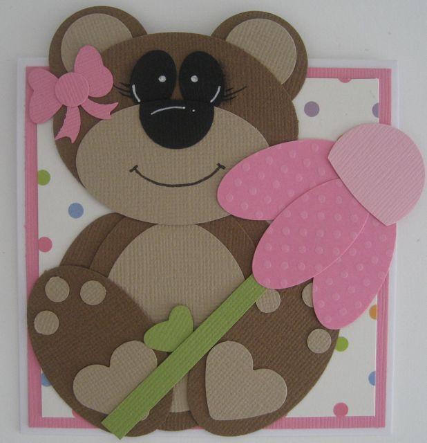 Teddy Bear punch art - bjl