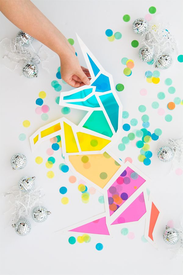 DIY 'Stained Glass' Unicorn | Oh Happy Day!