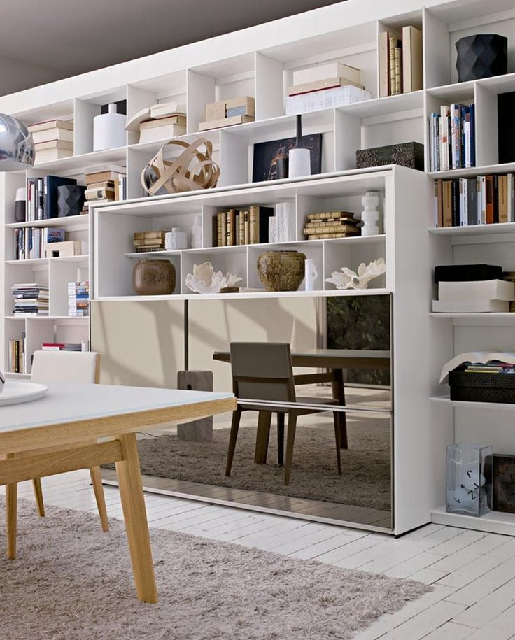 Open sectional #bookcase FLAT.C by @bebitalia