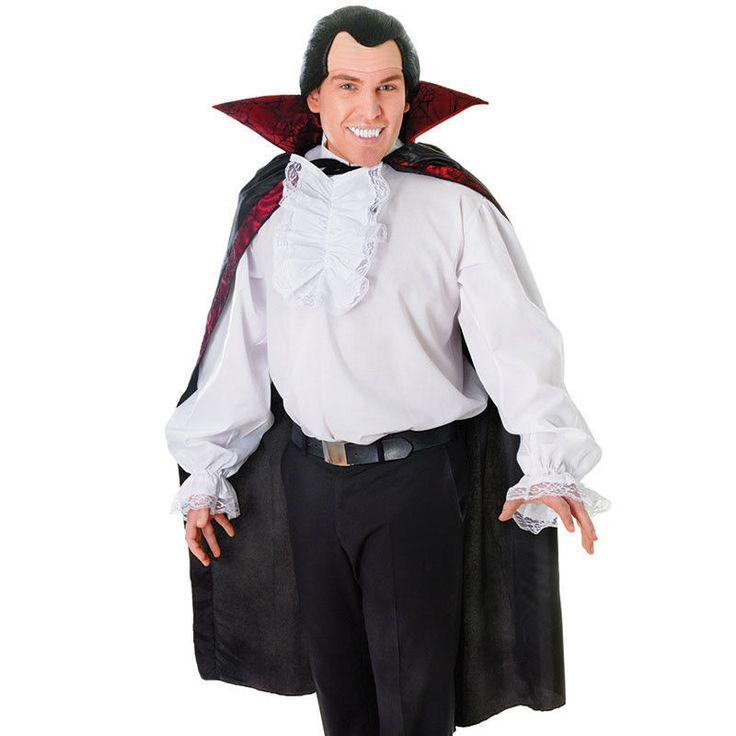fancy dress unisex white vampire pirate shirt with ruffled front halloween - Ebaycom Halloween Costumes