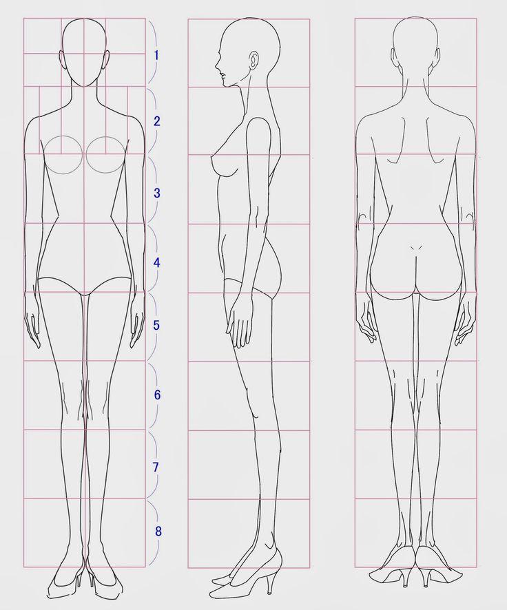 Si queremos realizar dibujos para moda, es fundamental conocer las proporciones básicas de la figura humana. El método de proporción que se suele utilizar, radica en calcular las veces que el largo de la cabeza....