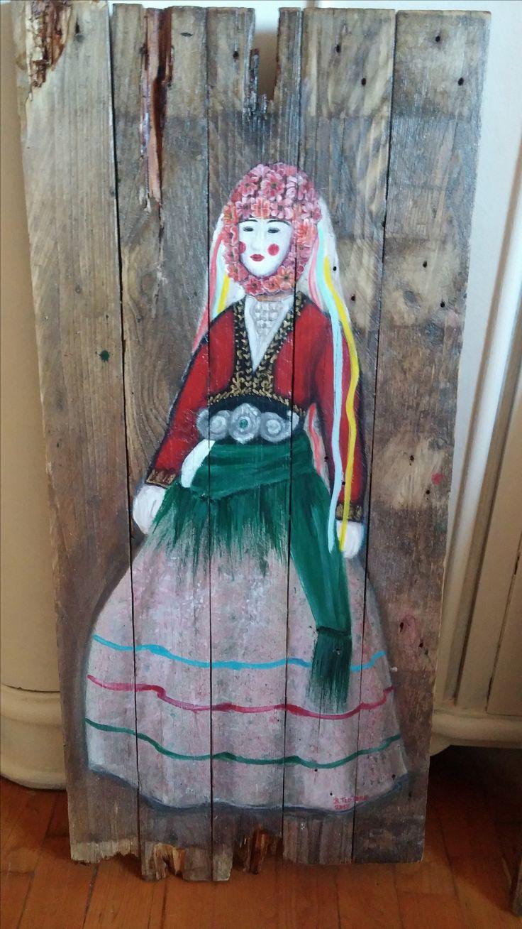 Trditioneles Kostüm Nausa Griechenland