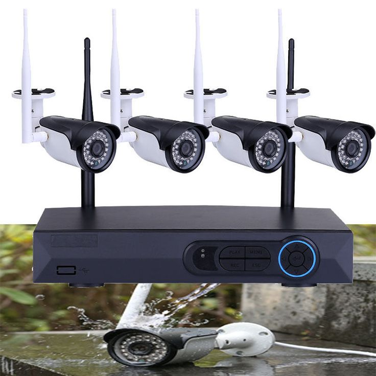 960P HD 4CH Wireless NVR Outdoor Network WiFi Security IP Camera System  #Masione