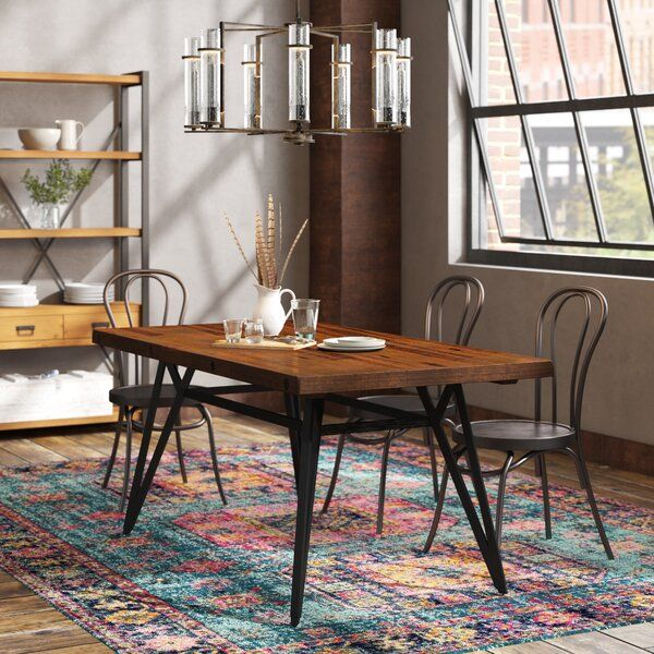Trent Austin Design Cesare Gathering Counter Height Solid Wood Dining Table Reviews Wayfair Dining Table Dining Room Industrial Dining Table In Kitchen