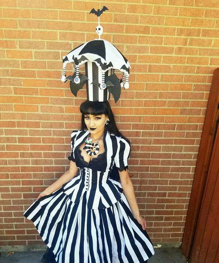 Beetlejuice Halloween costume.  Michay Velasquez aka The.Vintage.Siren