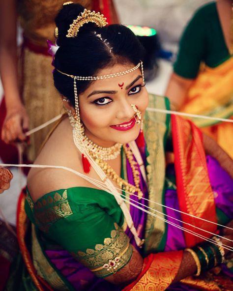 Wedding Hairstyle Maharashtrian: 604 Best Maharashtrian Brides Images On Pinterest