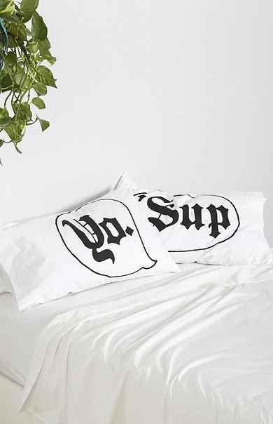 Yo 'Sup Pillowcase - Set Of 2