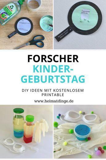 Forscherparty: einfache Ideen für eine gelungenen Forscher Kindergeburtstag – Kerstin Göbel