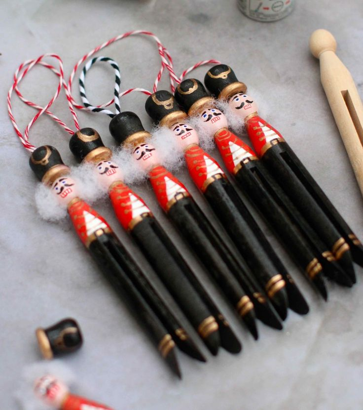 Nutcracker Peg Doll Decorations
