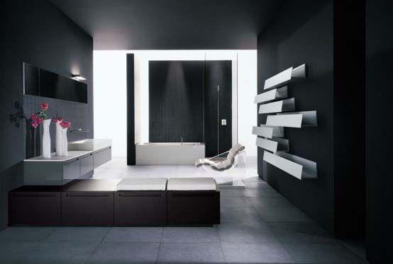 Contemporary-dark-bathroom