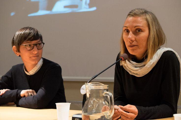 Linda Dorigo e Nausicaa Giulia Bianchi, fotografe, alla serata organizzata come Phom al Festival della Fotografia Etica di Lodi sul tema fotografia e religiosità.