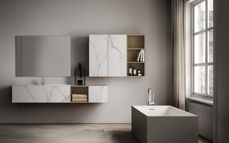 The new modular Dogma collection from Alternative Bathrooms melds Italian style with a Zen-like focus on harmony and balance.  An extensive system of beautiful basins, cabinetry and storage offers interchangeable elements in a wide range of sizes, materials and colour options.