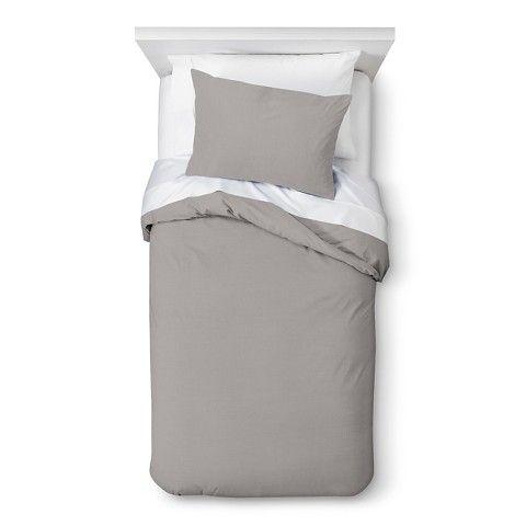 Solid Duvet Set - Grey