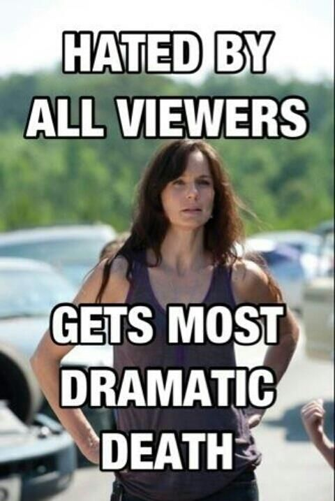 33 most frustrating things about the walking dead. Lori for one. @addlaw07 @kdmae2000