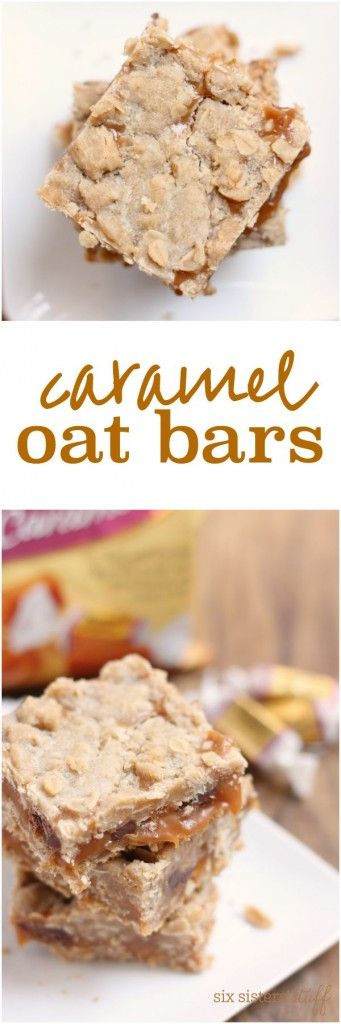Caramel Oat Bars from Six Sisters' Stuff are a new family favorite! So yummy!