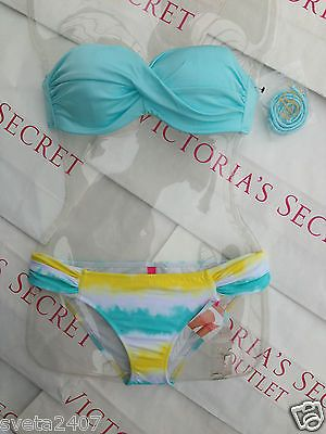So cute! Too bad they never have the bandeau's in my size...New Sexy Victoria's Secret Swimsuit Rio Twisted Shimmer Bandeau Bikini Set