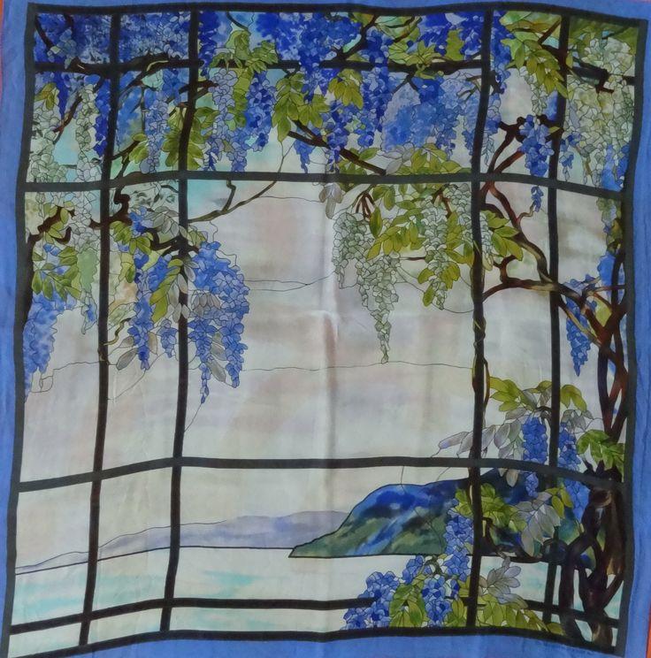 Silk scarf printed in Korea for Metropolitan Museum for Art, 1998