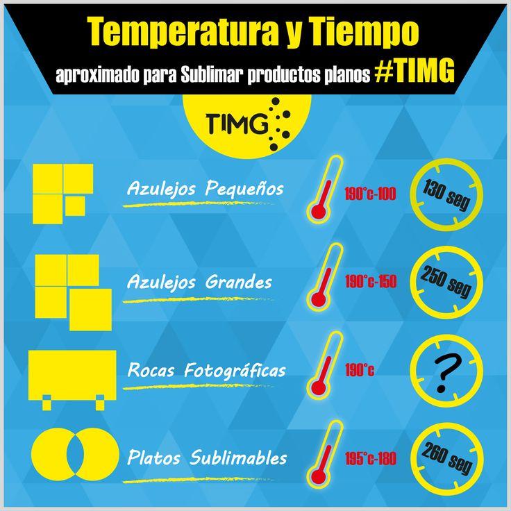 En nuestra sección de #consejosTIMG podrás saber datos y respuestas a las preguntas más comunes de nuestros usuarios. ¿Sabes cuales son la temperatura y tiempo aproximado para sublimar nuestros productos de cerámica planos #TIMG? Acá podrás chequearlo.