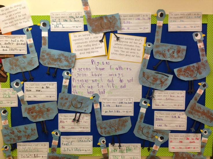 Kinder Garden: Chalk Talk: A Kindergarten Blog: The Pigeon Needs A Bath