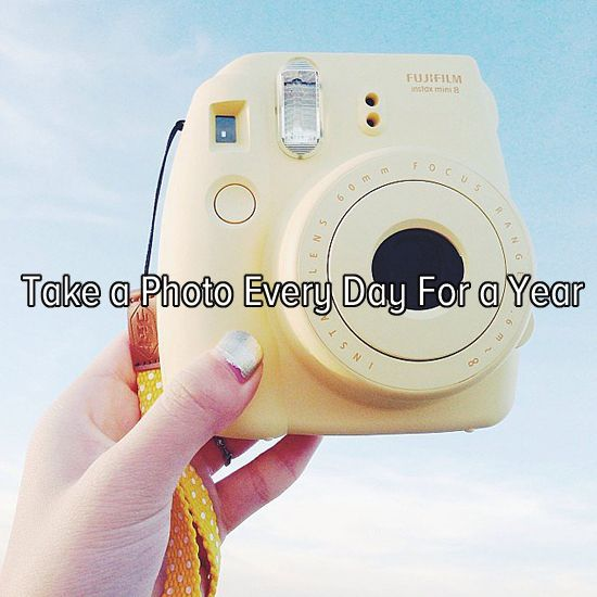 Bucket list: document my life by taking a photo every day for a year! (Wow, I want a camera like this :D )
