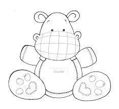Resultado de imagen para dibujos de hipopotamo de la selva para bebes