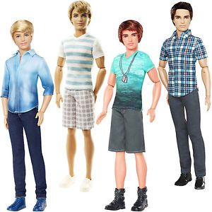 "Barbie Ken Fashionistas Toy Doll 30cm/12"" Ryan Or Ken Dress Up Boy ..."