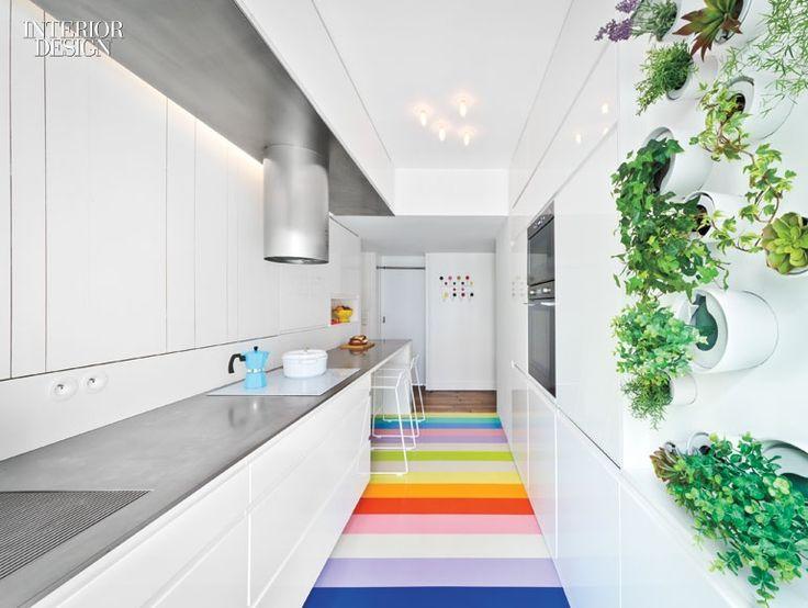 SABO Invigorates A Fashion Forecasters Paris Apartment With Cheerful Array Of Colors City ApartmentsInterior Design MagazineKitchen