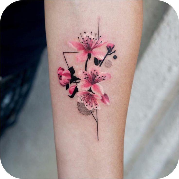 """13.9k Likes, 35 Comments - Tattoodo (@tattoodo) on Instagram: """"Cherry blossom made by @trudy_nyc #TATTOODO"""""""