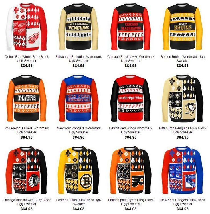 What could be better than an NHL themed ugly holiday sweater?? PHOTO: NHL releases line of truly awful team branded ugly holiday sweaters | theScore