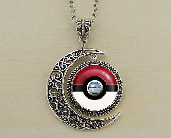 Pokeball necklace by lovelychristmasgift | I need this in my jewelry box right now!