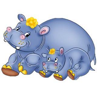 hippo, art | hippopotamus cartoon clip art images
