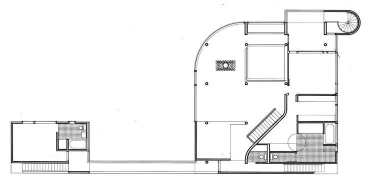 Imagen 11 de 15 de la galería de Clásicos de Arquitectura: Casa Saltzman / Richard Meier & Partners Architects. Planta Nivel Medio